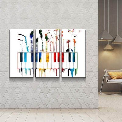 Abstract Instruments Canvas Set