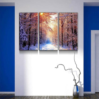 Snowy Lane Canvas Set