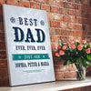 Best Dad Ever Custom Canvas Set