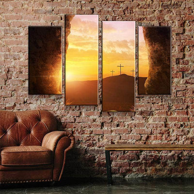 Three Crosses Cave View Canvas Set