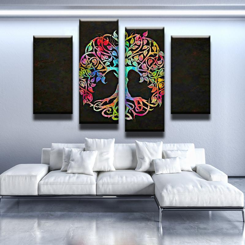 Abstract Tree of Life Canvas Set