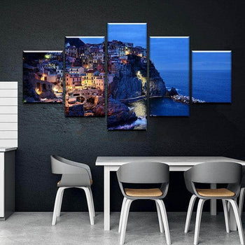 Sea Cliff at Night Canvas Set