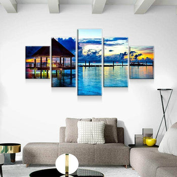Tropical Vacation Canvas Set