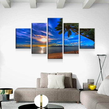 Tropical Sunset Canvas Set