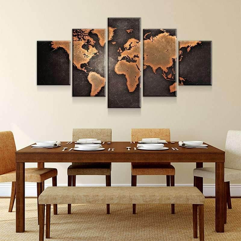 bb8923c82eb2 Rustic World Map Canvas Set - Canvas Freaks