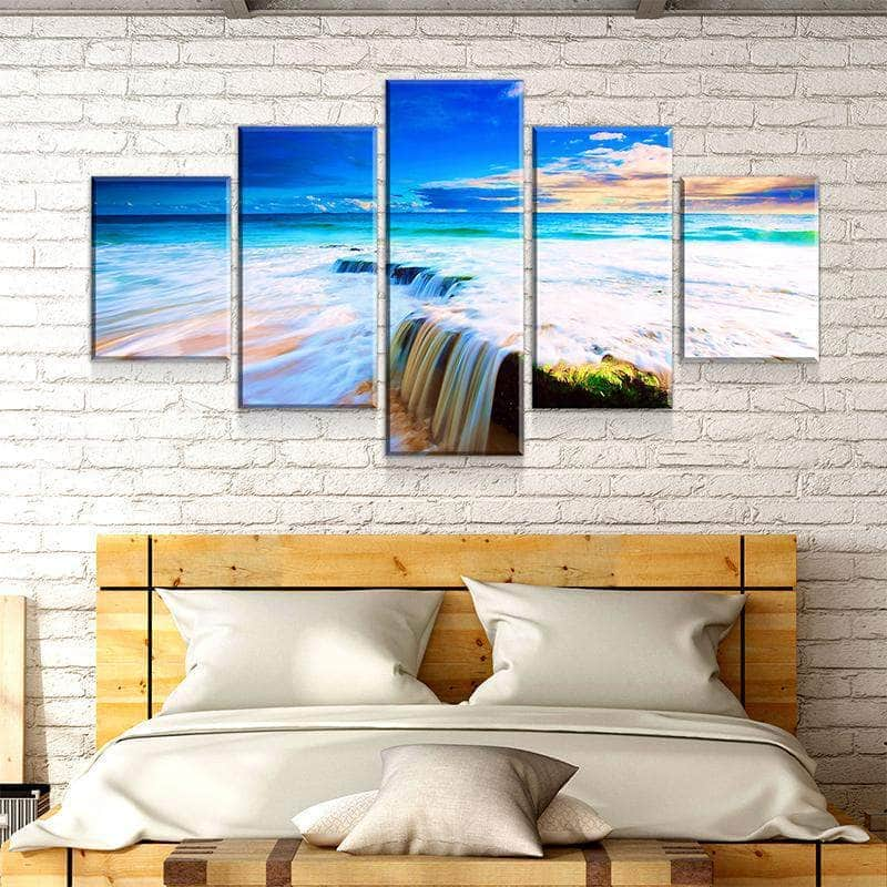 Waterfall Beach Canvas Set