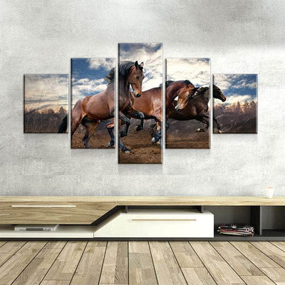 Wild Horses Canvas Set