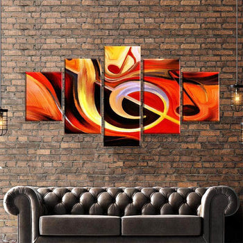 Single Music Note Canvas Set