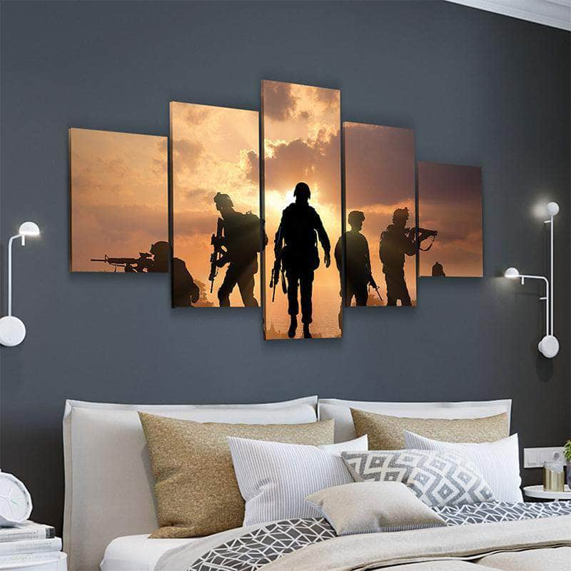 Veterans Sunset Canvas Set