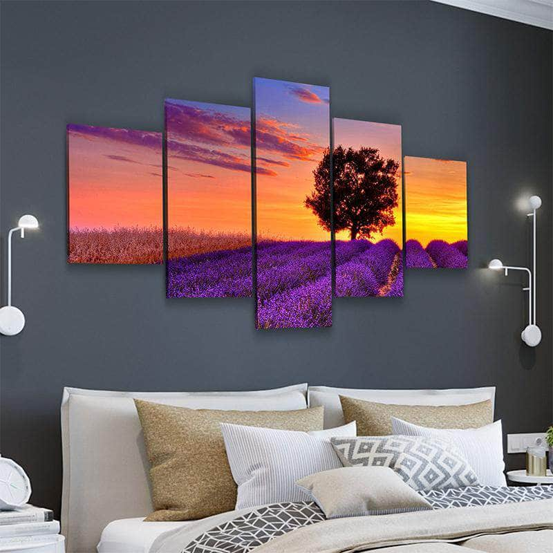 Violet Sunset Canvas Set