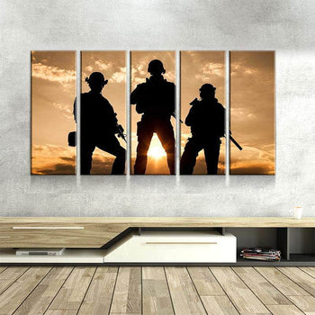 Army Sunset Canvas Set