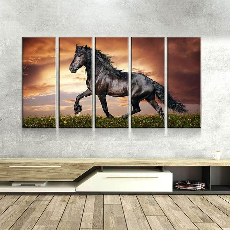 Black Horse Canvas Set
