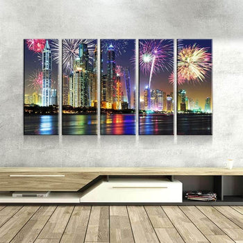 Dubai Fireworks Canvas Set