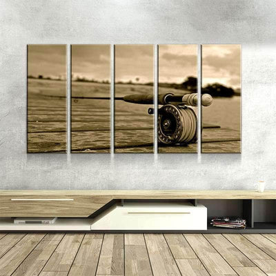 Fishing Rod Canvas Set