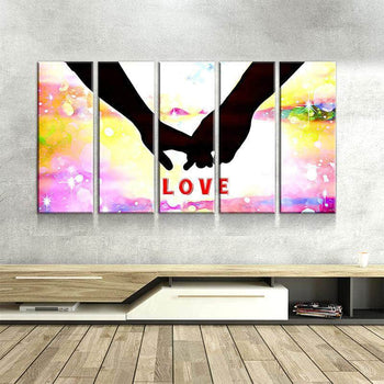Love Abstract Canvas Set