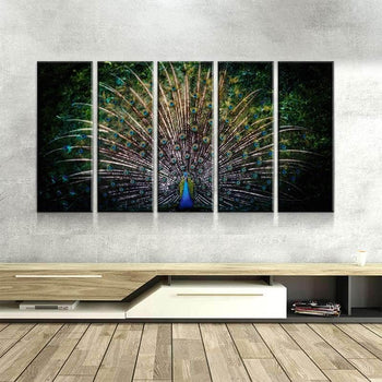 Peacock Passion Canvas Set