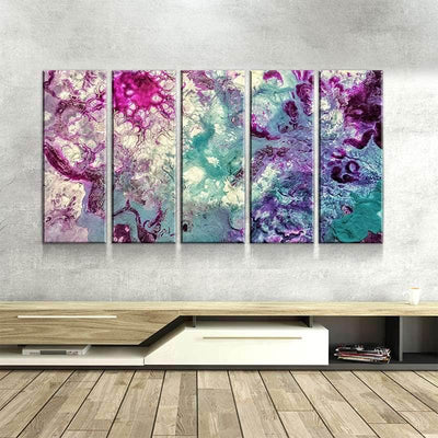 Purple Teal Melody Canvas Set