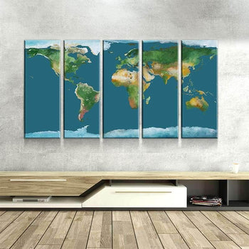World Map No39 Canvas Set