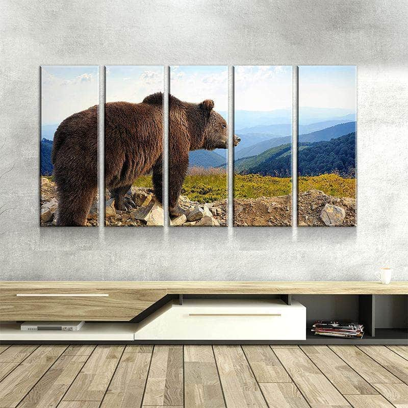 Bear In The Mountain Canvas Set