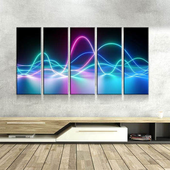 Neon Waves Canvas Set