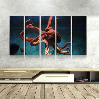 Orange Octopus Canvas Set