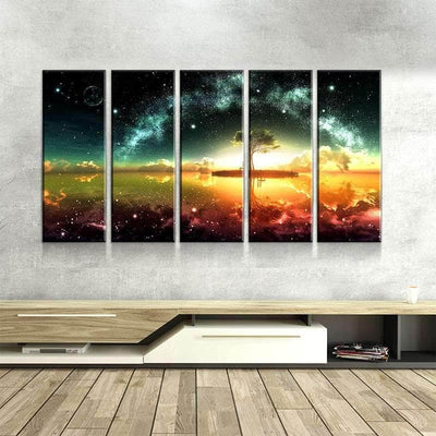 Space Ocean Canvas Set