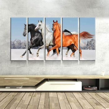 Three Horses Canvas Set