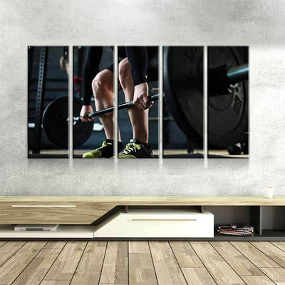 Weight Lifting Canvas Set