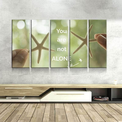 You Are Not Alone Canvas Set