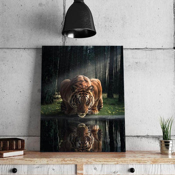 Tiger in the Woods Canvas Set