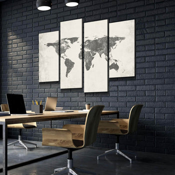 World Map No28 Canvas Set