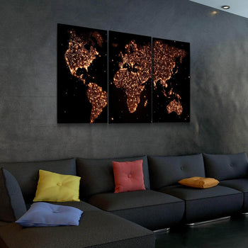 World Map No23 Canvas Set
