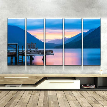Olympic Lakefront Canvas Set