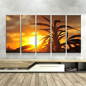 Ganja Sunset Canvas Set