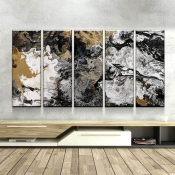 Black Granite Canvas Set