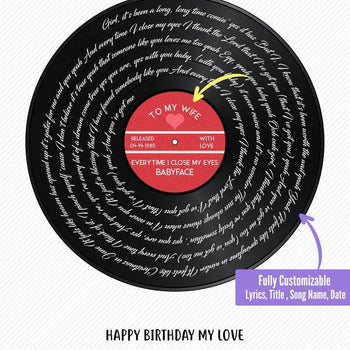 Vinyl Love Record Custom Canvas Set