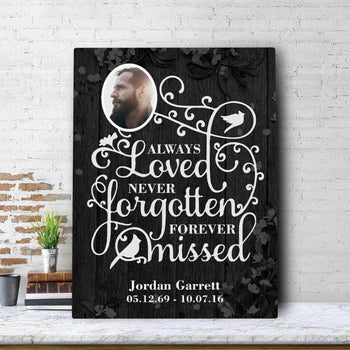 Always Loved Never Forgotten Custom Canvas Set