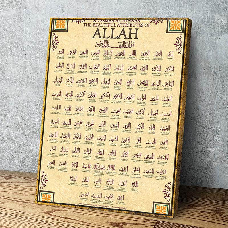 99 Names of Allah Canvas Set