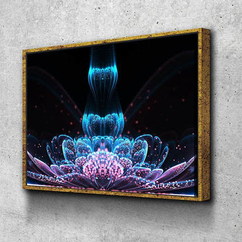 Abstract Flower Canvas Set