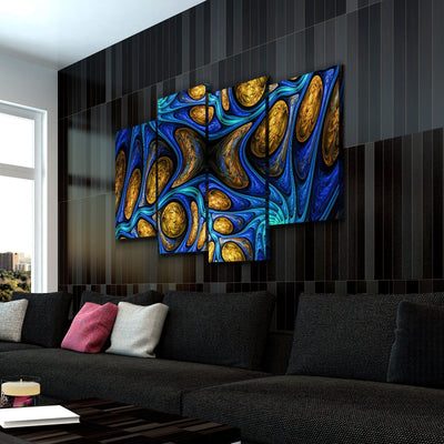 Abstract Fractal Canvas Set