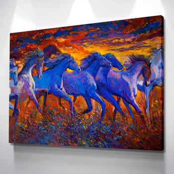 Abstract Horses Canvas Set