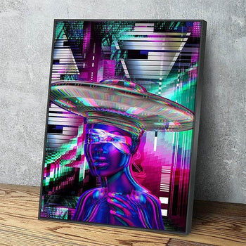 Alien Girl Canvas Set
