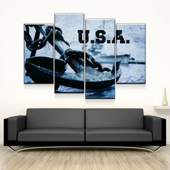 Anchor of Freedom Canvas Set