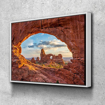 Arches North Window Canvas Set