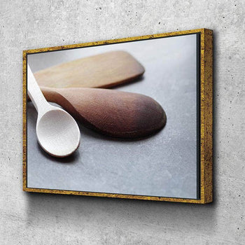 Artsy Spoons Kitchen and Dining Room Wall Decor Canvas Set