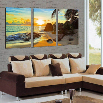 Beach Sunset Canvas Set