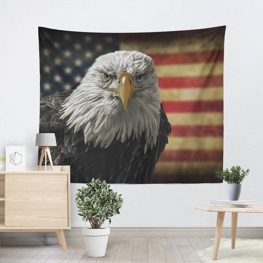 Bald Eagle Freedom Tapestry