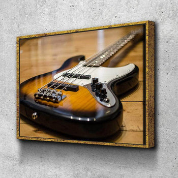 Bass Guitar Canvas Set