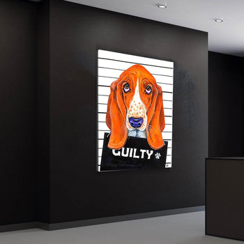 Basset Hound Mugshot Canvas Set