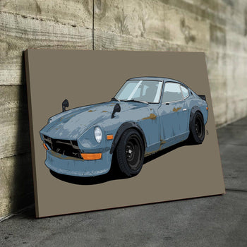 Beat Up Datsun 240z Canvas Set
